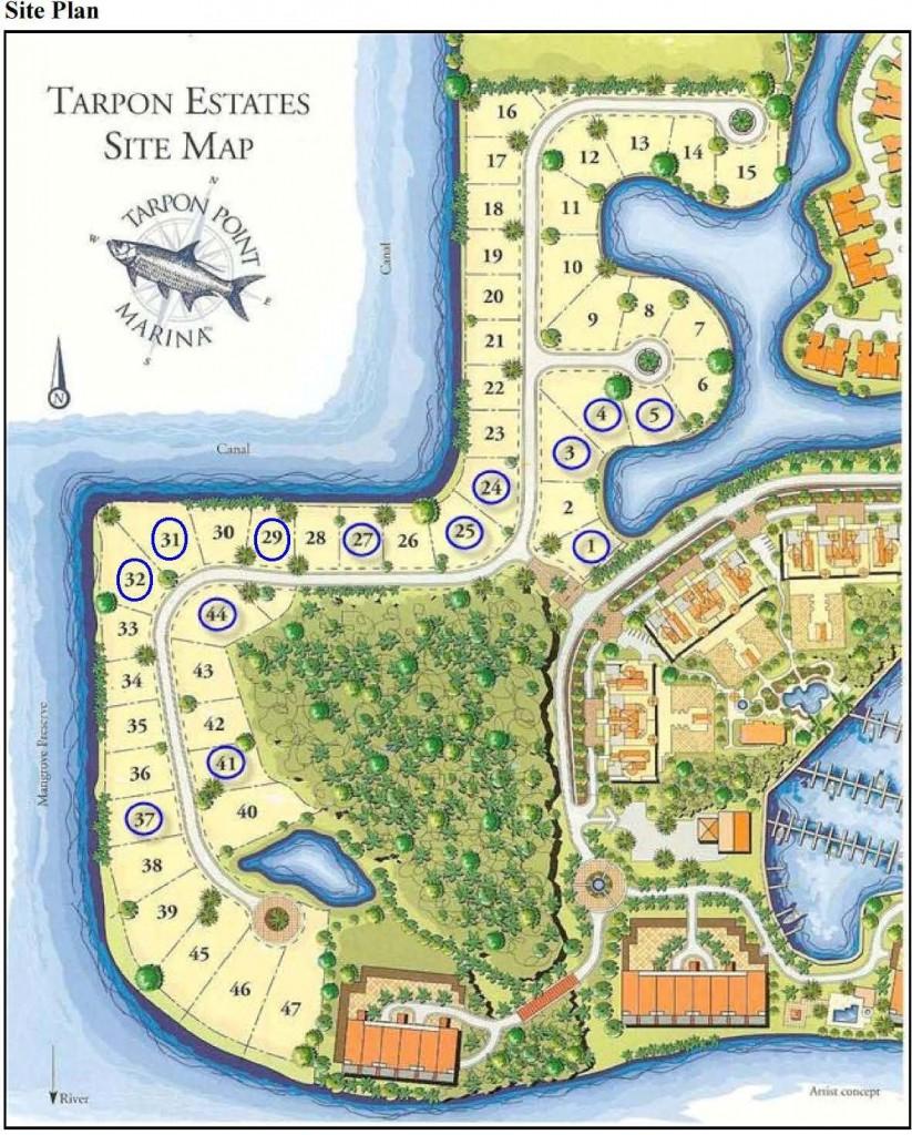 Tarpon Estates Site Map